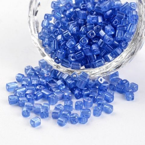 Seed Beads Cube - 6/0 - Royal Blue Pearl - 50g